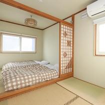 国産高級畳の和室は3人まで利用可能