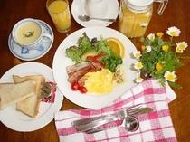 パンの朝食例
