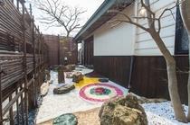 庭園 ※ボタンアートの庭園