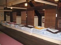 2階合宿での宿泊例