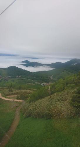 東館ゴンドラより雲海を望む
