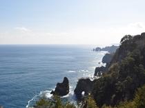 【北山崎】海のアルプスと称される絶景。当館より車で約10分です。