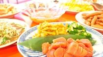 【お料理一例:バイキング】ご飯がすすむメニューを豊富にご用意しております。