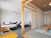 【和洋室】2016年4月にリニューアルいたしました。最大4名様までのご宿泊が可能です。