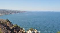 【黒崎展望台から久慈方面】太平洋が弧を描くように広く見渡せます。
