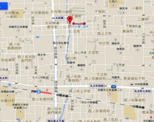 JR円町駅近く