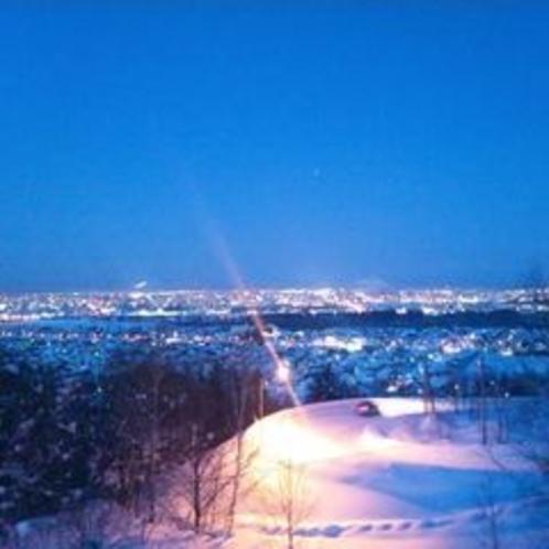 「雪の屋」がある富沢観音台からの夜景