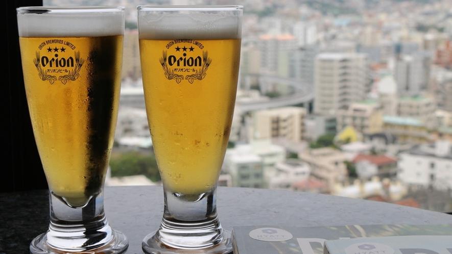 【クラブラウンジ】7時~20時までいつでもオリオンドラフトビールが飲み放題!