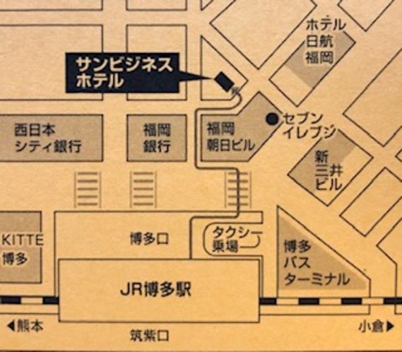 ホテルまでの地図