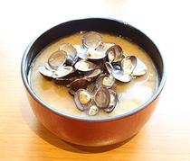 【朝食】津軽みそのしじみの味噌汁