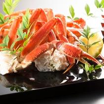 【1泊2食】蟹食べ放題付ディナーブッフェ&牛ロースステーキ、海老と季節野菜の天ぷら★フロント