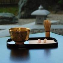 お抹茶と讃岐和三盆