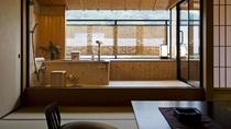 讃水館露天風呂付き客室 檜風風呂