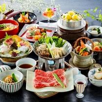 女将特選2016(秋)オリーブ牛のすき焼き、松茸土瓶蒸し、鯛素麺