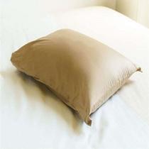 【茶色枕】 低反発チップを使用した硬すぎず心地よい感触の枕です。