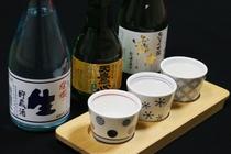 栃木の地酒飲み比べ