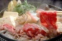 霜降りの柔らかいお肉がとろけるすき焼き