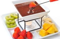 グレードアップにチョコレートフォンデュ