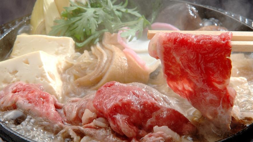 青森県産黒毛和牛のすき焼き