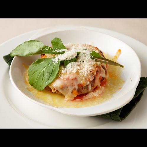 特製トマトソースのイタリアンハンバーグ