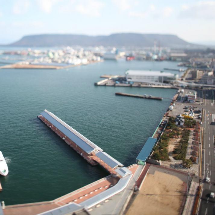 ホテルから望む瀬戸内海