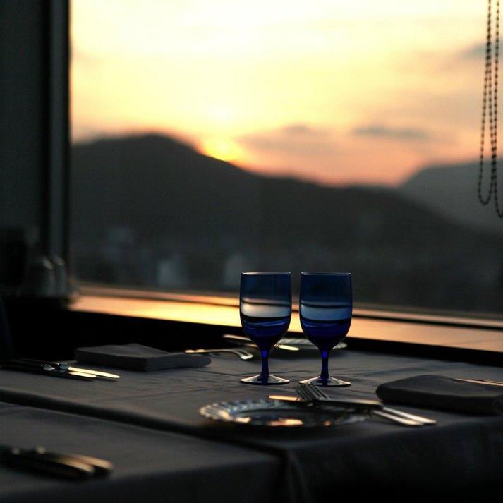 ホテルからの夕日