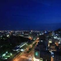 ホテルから望む夜景高松市街地側