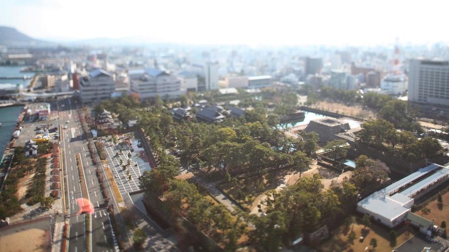 ホテルから見える高松市街