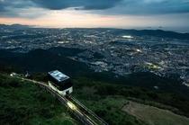 皿倉山夕景.