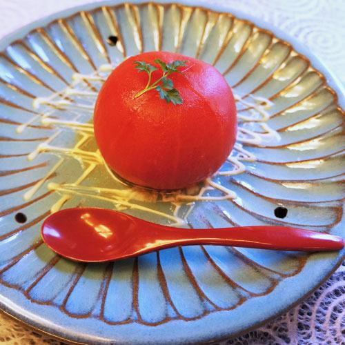 (夕食の一品)高知のトマトは絶品!