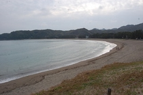 弓ヶ浜2 長い砂浜