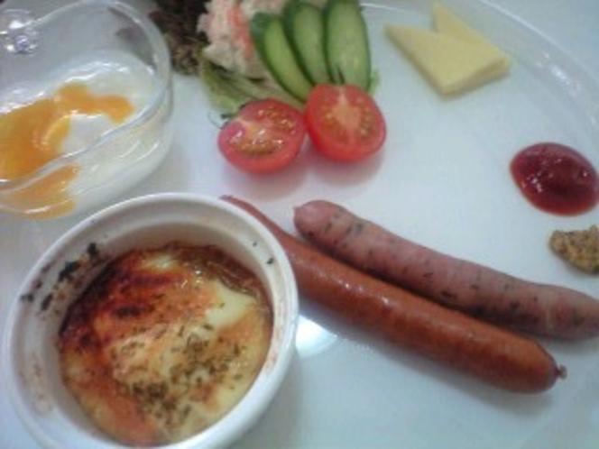 朝の洋食一例