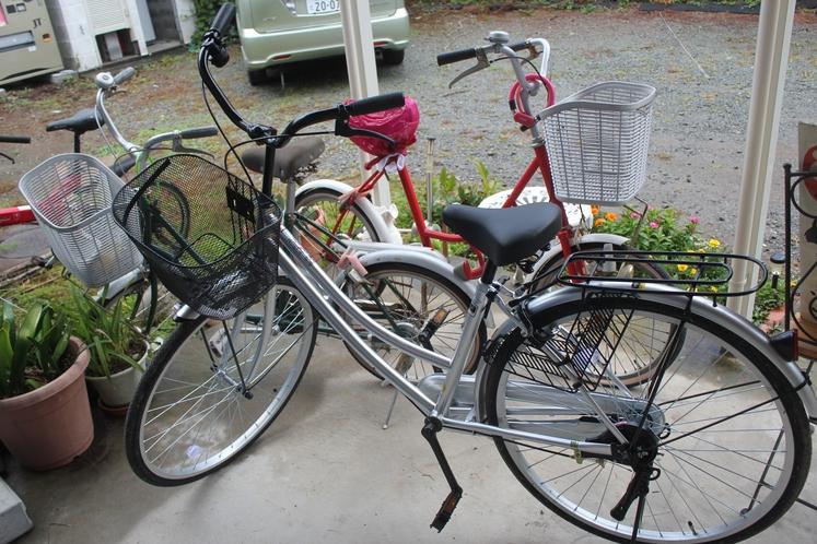 レンタル自転車があります。