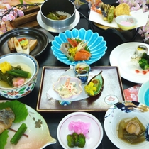 *【夕食例】旬の食材を使ったもりのいずみ御膳