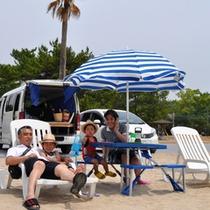 【デイキャンプサイト】ビーチまで徒歩0秒!海水浴も楽々です