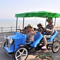 【足こぎ自転車】広い敷地内をすいすい!お子様と一緒にお楽しみください