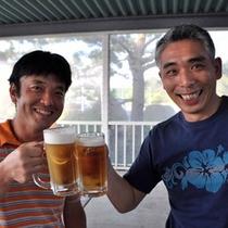 【バーベキューガーデン】外で飲むビールは格別の味!