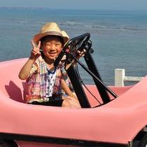 【足こぎ自転車】海を眺めながらのんびりと。お子様でも運転できます