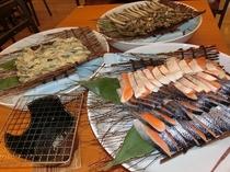 朝食メニューの一例(焼き魚)