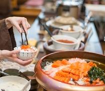 【北海道朝食バイキング】海鮮丼