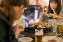 【BEAUTYBAR BEER CAFE】食事風景~ジンギスカン~女子会バージョン