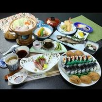 秋刀魚押寿司会席