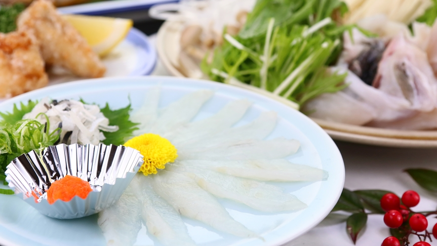 ふぐ一例◆冬にしか食べられない高級とらふぐを贅沢に