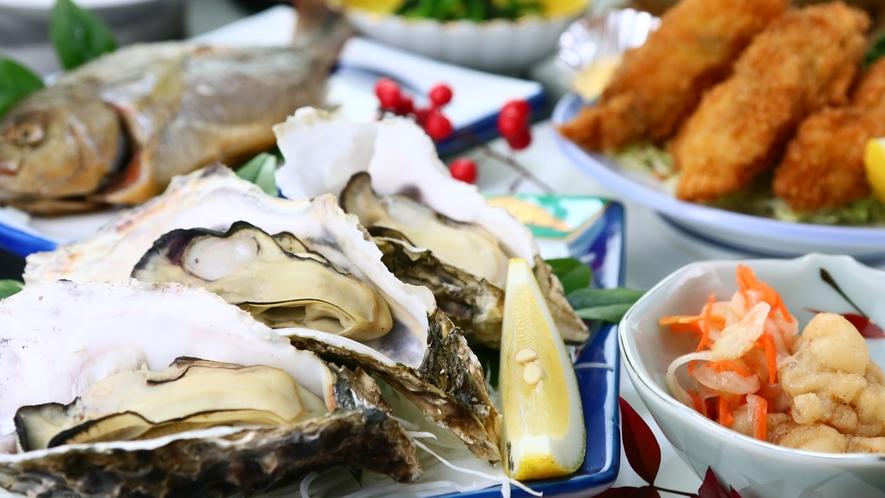 牡蠣一例◆カキ好きにはたまならい人気のコースです!