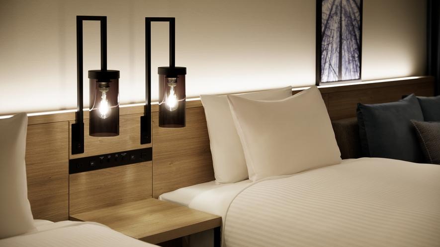 客室ベッドサイドランプ