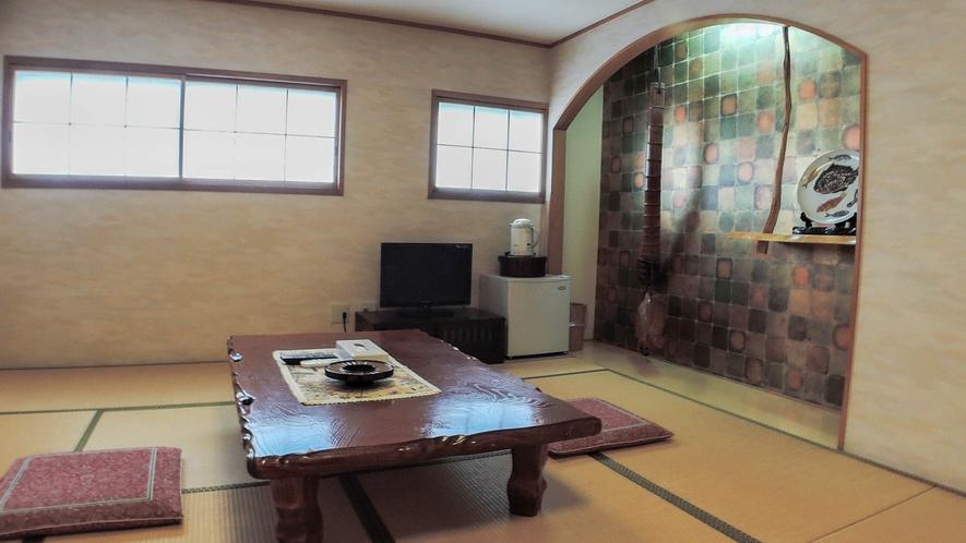 *【和室一例】3階または4階のお部屋です(エレベーターあり)。ごゆっくりお寛ぎ下さい。