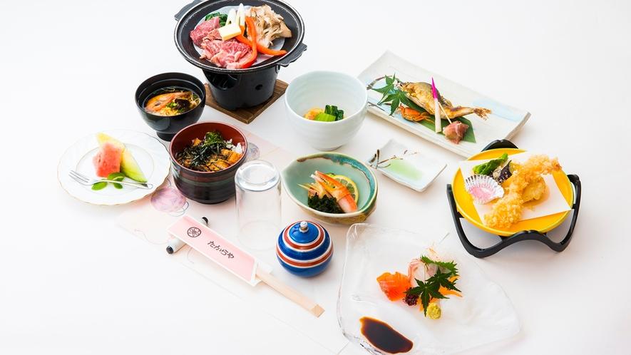 【夕食一例】定食 1,320円(込)要事前予約