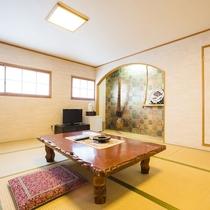 【和室一例】3階または4階のお部屋です(エレベーターあり)。ごゆっくりお寛ぎ下さい。
