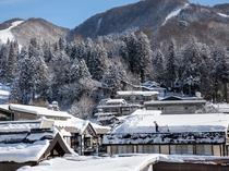 野沢温泉村の冬景色