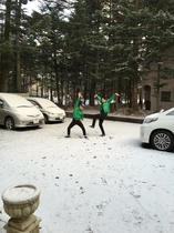 軽井沢 冬風景